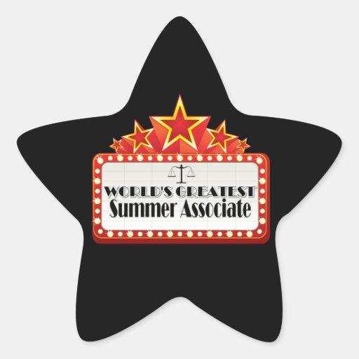 World's Greatest Summer Associate Star Sticker