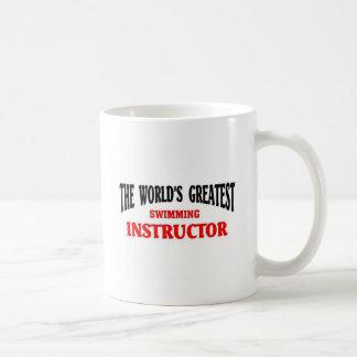 World's Greatest Swimming Instructor Basic White Mug