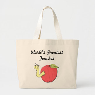 World's Greatest Teacher Canvas Tote