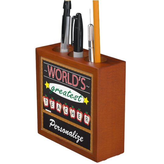 World's Greatest Teacher Desk Organizer