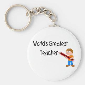 World's Greatest Teacher Keychain