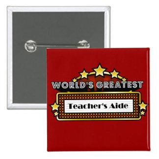 World's Greatest Teacher's Aide 2 Inch Square Button