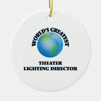 World's Greatest Theater Lighting Director Christmas Tree Ornament