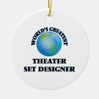 World's Greatest Theater Set Designer Double-Sided Ceramic Round Christmas Ornament