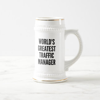 Worlds Greatest Traffic Manager 18 Oz Beer Stein
