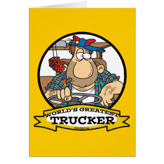 WORLDS GREATEST TRUCKER MEN CARTOON CARD