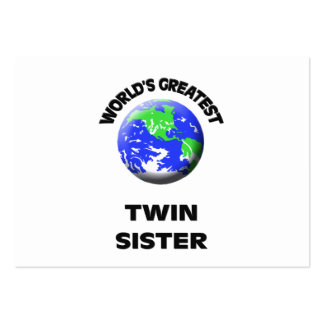 World's Greatest Twin Sister Business Cards