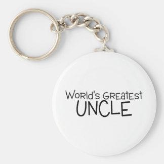 Worlds Greatest Uncle Basic Round Button Keychain