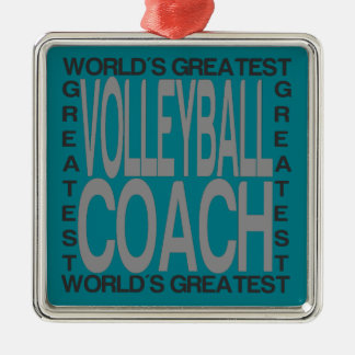 Worlds Greatest Volleyball Coach Metal Ornament