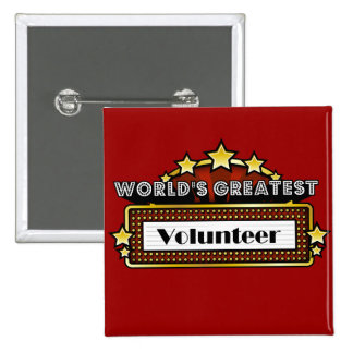 World's Greatest Volunteer 2 Inch Square Button