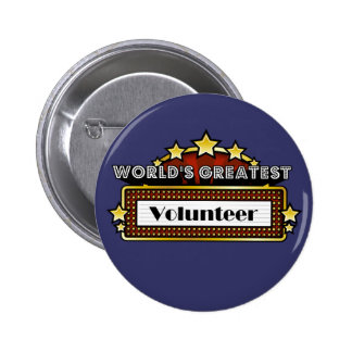 World's Greatest Volunteer Buttons