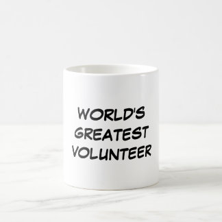 """World's Greatest Volunteer"" Mug"