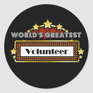 World's Greatest Volunteer Round Sticker