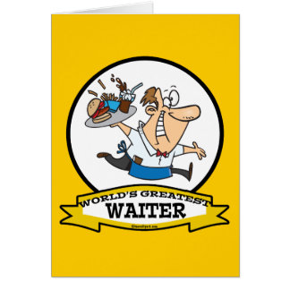 WORLDS GREATEST WAITER II MEN CARTOON CARD
