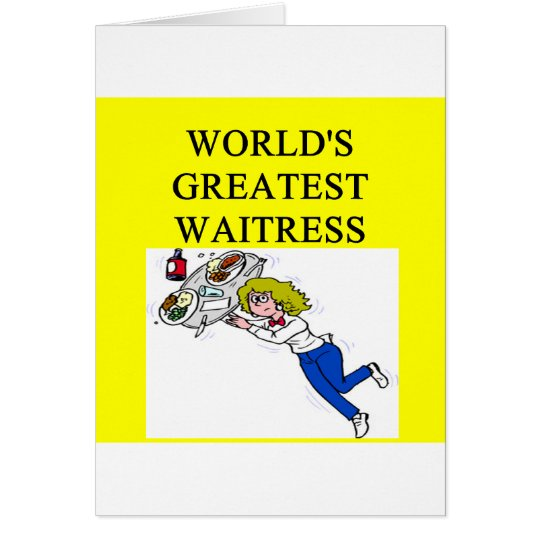 world's greatest waitress card