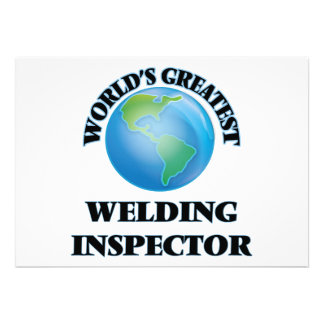 World's Greatest Welding Inspector Custom Invitations