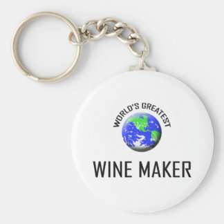 World's Greatest Wine Maker Keychain
