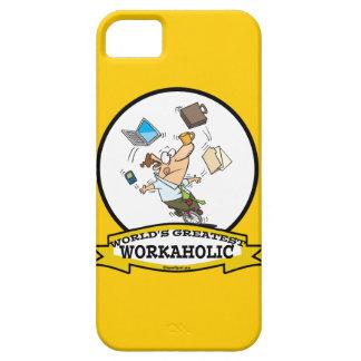 WORLDS GREATEST WORKAHOLIC MEN CARTOON iPhone 5 CASE