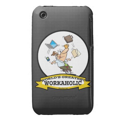 WORLDS GREATEST WORKAHOLIC MEN CARTOON iPhone 3 Case-Mate CASES
