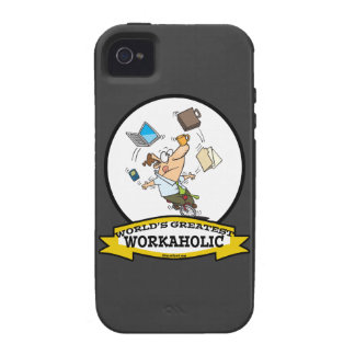 WORLDS GREATEST WORKAHOLIC MEN CARTOON iPhone 4/4S COVERS
