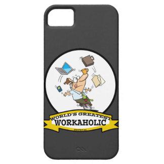 WORLDS GREATEST WORKAHOLIC MEN CARTOON iPhone 5 CASES
