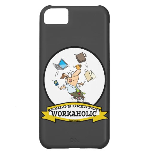 WORLDS GREATEST WORKAHOLIC MEN CARTOON COVER FOR iPhone 5C
