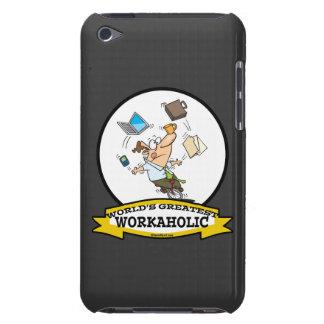WORLDS GREATEST WORKAHOLIC MEN CARTOON iPod Case-Mate CASE