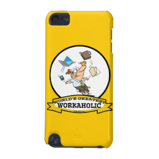 WORLDS GREATEST WORKAHOLIC MEN CARTOON iPod TOUCH (5TH GENERATION) COVER