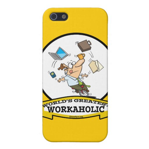 WORLDS GREATEST WORKAHOLIC MEN CARTOON COVER FOR iPhone 5