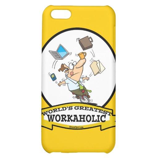 WORLDS GREATEST WORKAHOLIC MEN CARTOON iPhone 5C CASES