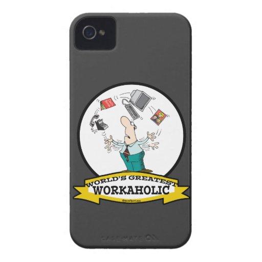 WORLDS GREATEST WORKAHOLIC MEN II CARTOON iPhone 4 COVER
