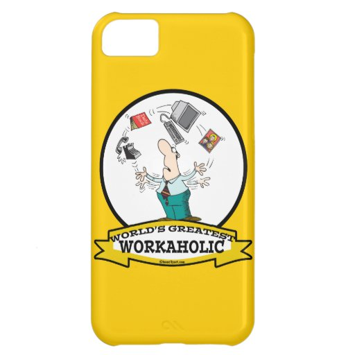 WORLDS GREATEST WORKAHOLIC MEN II CARTOON COVER FOR iPhone 5C