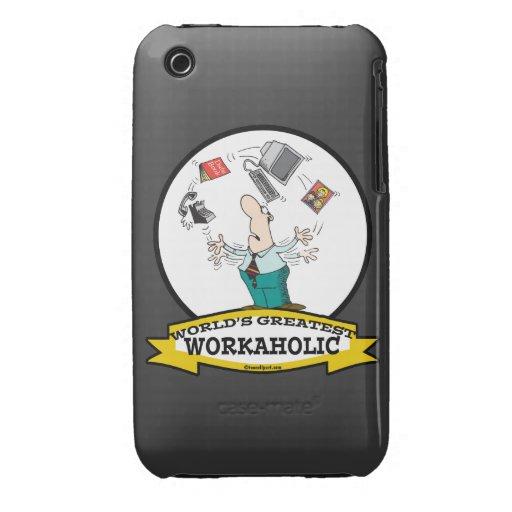 WORLDS GREATEST WORKAHOLIC MEN II CARTOON Case-Mate iPhone 3 CASES