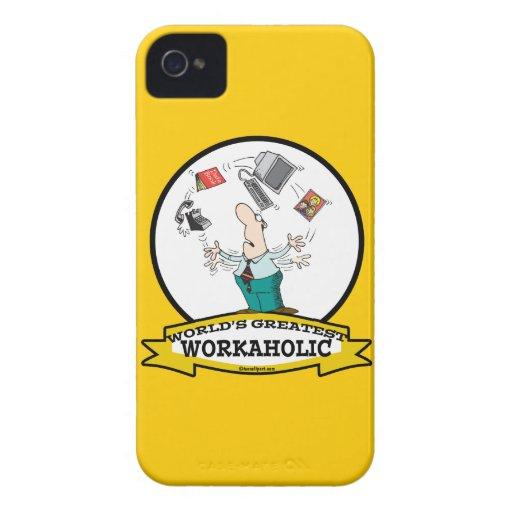 WORLDS GREATEST WORKAHOLIC MEN II CARTOON iPhone 4 CASE