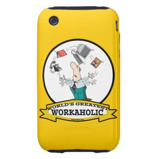 WORLDS GREATEST WORKAHOLIC MEN II CARTOON iPhone 3 TOUGH CASES
