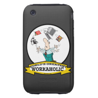 WORLDS GREATEST WORKAHOLIC MEN II CARTOON iPhone 3 TOUGH COVERS