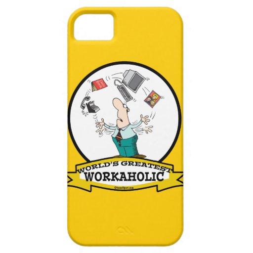 WORLDS GREATEST WORKAHOLIC MEN II CARTOON iPhone 5 CASE