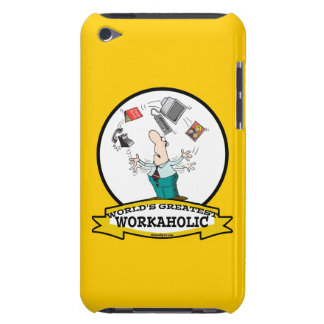 WORLDS GREATEST WORKAHOLIC MEN II CARTOON BARELY THERE iPod CASES