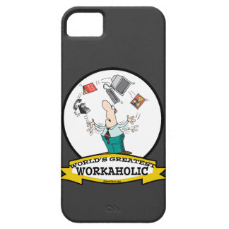 WORLDS GREATEST WORKAHOLIC MEN II CARTOON CASE FOR THE iPhone 5