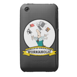WORLDS GREATEST WORKAHOLIC MEN II CARTOON iPhone 3 COVERS