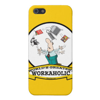 WORLDS GREATEST WORKAHOLIC MEN II CARTOON CASES FOR iPhone 5