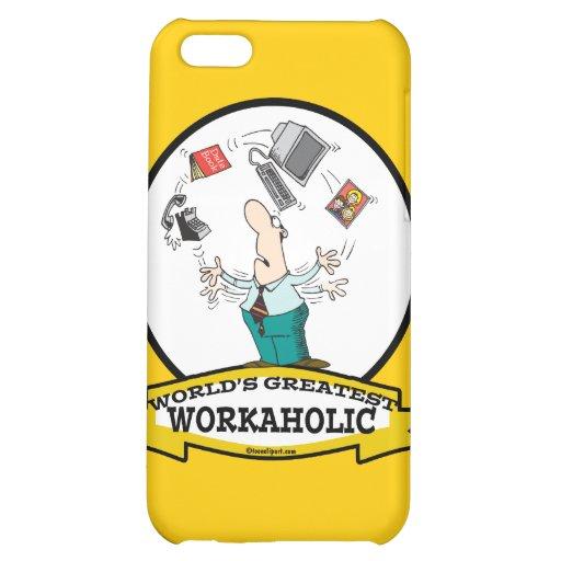 WORLDS GREATEST WORKAHOLIC MEN II CARTOON iPhone 5C CASES