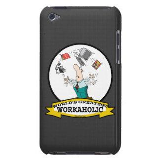 WORLDS GREATEST WORKAHOLIC MEN II CARTOON iPod TOUCH CASE