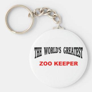 World's Greatest Zoo Keeper Keychain