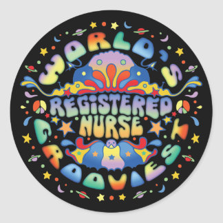 World's Grooviest RN Classic Round Sticker
