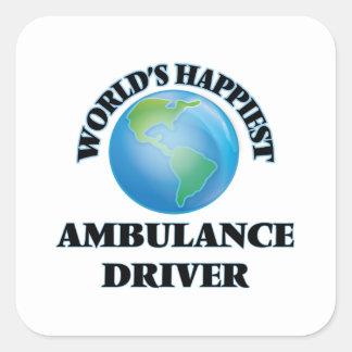 World's Happiest Ambulance Driver Square Sticker