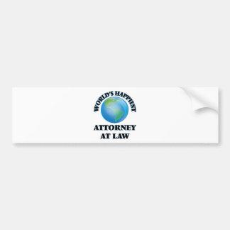 World's Happiest Attorney At Law Bumper Sticker