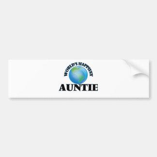 World's Happiest Auntie Bumper Sticker