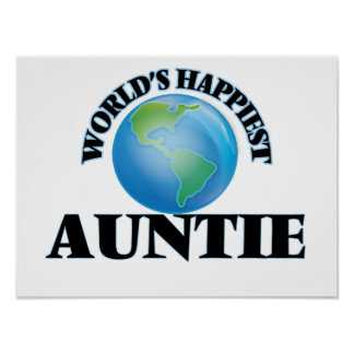 World's Happiest Auntie Poster