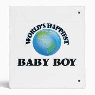 World's Happiest Baby Boy Vinyl Binders